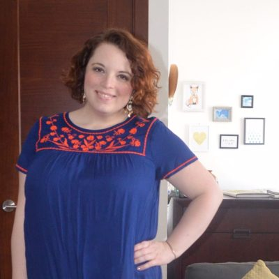 What NYC Recessionista Wears: embroidered Old Navy dress