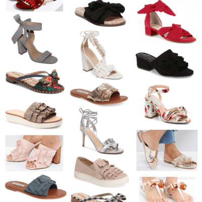 24 Pairs of Sandals with Adorable Ruffles and Bows