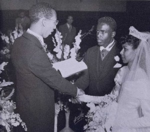The war delayed the marriage of Jackie & Rachel, presided over by Rev. Downs.