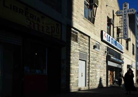 The current La Sinogoga coverted an unused movie theater on 125th Street into a church.