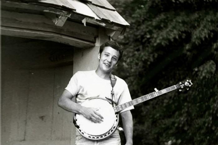 Best friends: Banjo & Matt Check in Tyler Park, Newtown, Pennsylvania, 1999. Photo courtesy of Matt Check