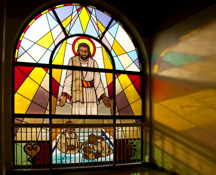 Black Jesus, Antioch Baptist Church, Corona, Queens. Photo: Tony Carnes/A Journey through NYC religions