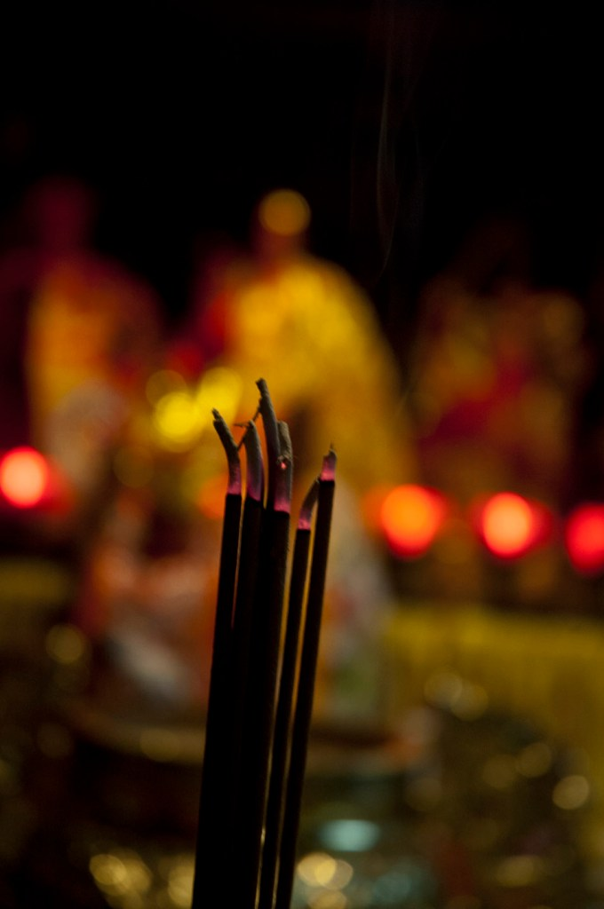 Incense for prayers at a Chinese Buddhist temple in Flushing, Queens. Photo: Tony Carnes/A Journey through NYC religions