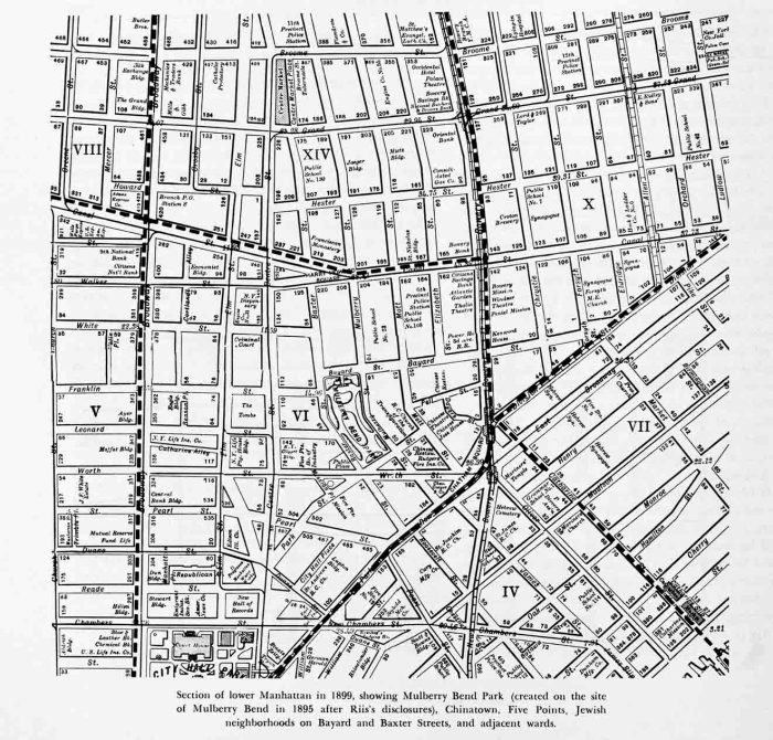 Map of the Lower East Side in Jacob A. Riis, How the Other Half Lives, 1901 edition (first edition in 1890).