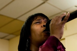 Singing against the deaths, United Baptist Church. Photo: Tony Carnes/A Journey through NYC religions
