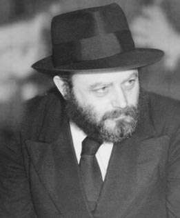 Rebbe Menachem Schneerson, soon after he became head of Lubavitch-Chabad in 1951. Photo from A Biography of Rebbetzin Chana Schneerson By Shmuel Marcus and Avraham D. Vaisfiche Published and copyrighted by Kehot Publication Society.