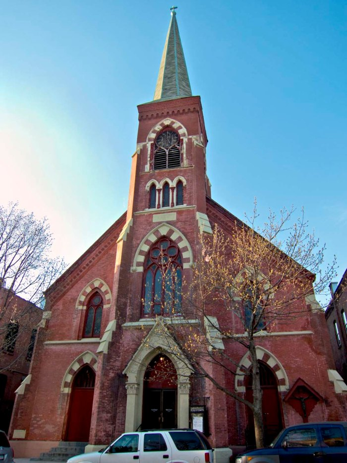 St John the Evangelist Lutheran Church, Saturday, April 18, 2014. Photo: Tony Carnes/A Journey through NYC religions