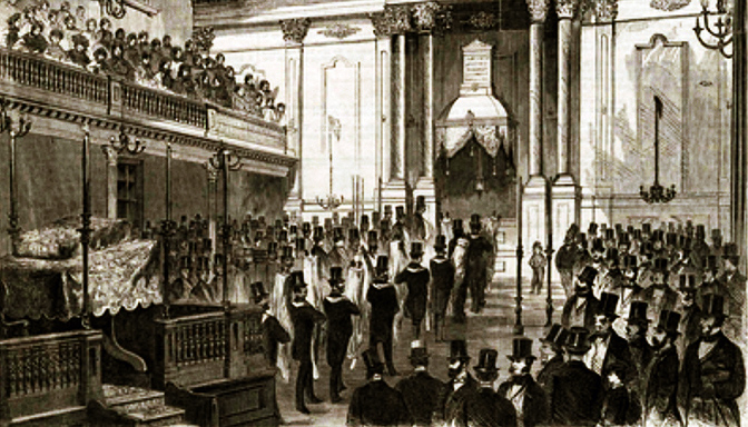 Congregation Shearith Israel dedicating its new synagogue building on September 12, 1860