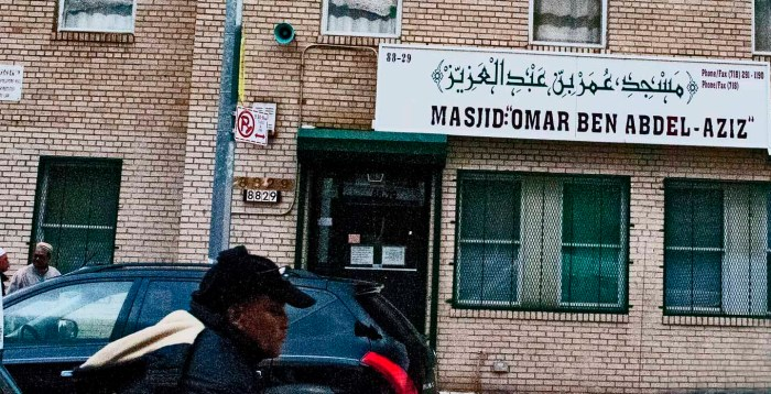 South Asian mosque in Jamaica, Queens. :Photo: Tony Carnes/A Journey through NYC religins
