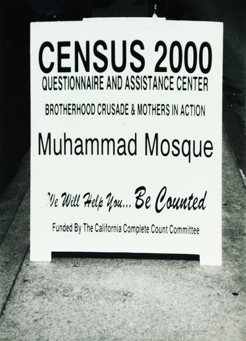 The US Census in 2000 revealed that Compton was already 57% Hispanic. Black Muslims in South Central Los Angeles helped to get people to the census. Photo: Tony Carnes/A Journey through NYC religions