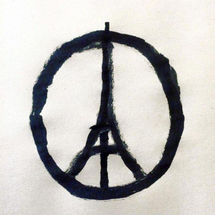 """#PeaceForParis"" Photo: AFP/Jean Jullien Studio Ltd/Jean Jullien"