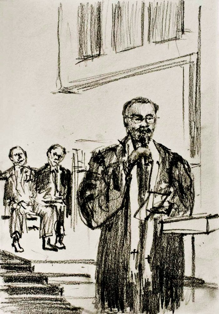 Rev. Gordon A. R. Richards. Drawing: Darilyn Carnes/A Journey through NYC religions