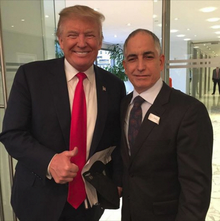 Candidate Trump met with Bishop Joe Mattera of Brooklyn and other religious leaders this week. Mattera is uncommitted to any candidate.