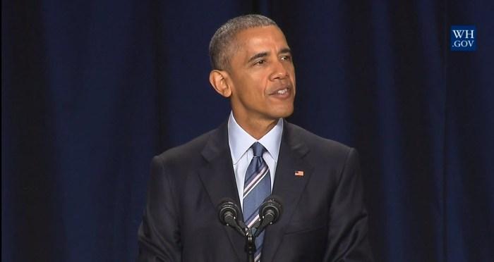 President Barack Obama at the National Prayer Breakfast, Thursday,February 4, 2016. Photo: White House Press Office