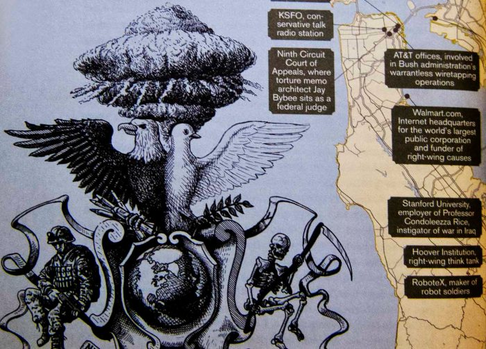 "Detail from Rebecca Solnit's map ""Right Wing of the Dove"" in her atlas of San Francisco"