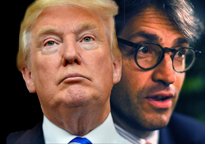 Donald Trump & NYC evangelical Eric Metaxas. Photo: illustration A Journey through NYC religions