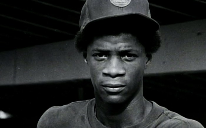 Young Daryl Strawberry with New York Mets