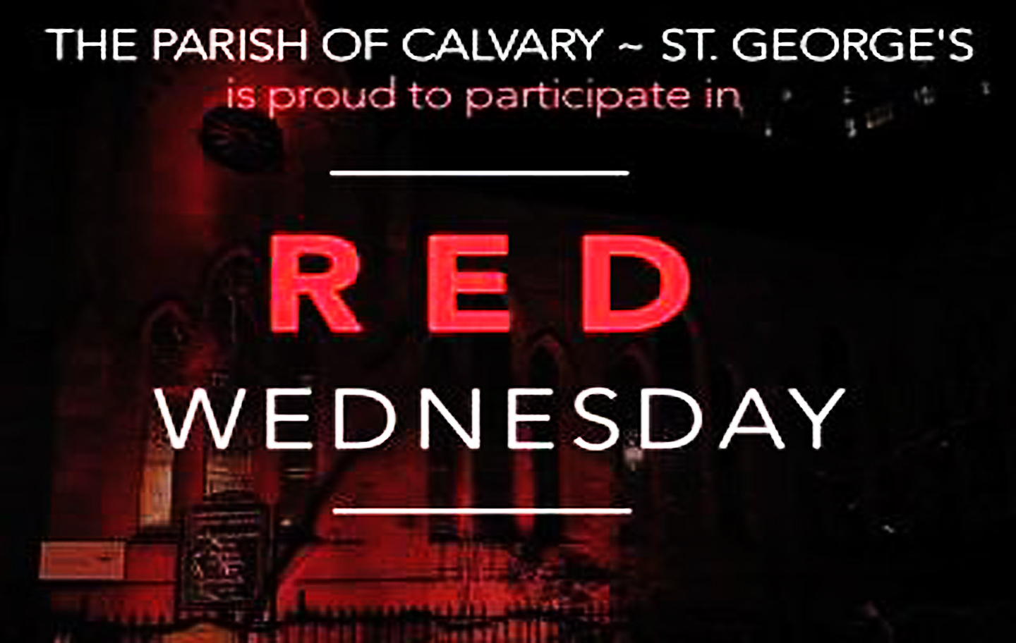 ... Stand Up For Religious Freedom, Calvary Church Will Light Its Outside  Façade In Red From December 20 24, 2017. The Church Is The First In New  York City ...