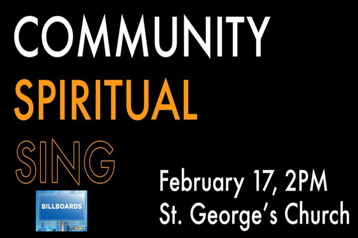 Today! Community Spirituals Sing at St. George's Episcopal Church 2pm