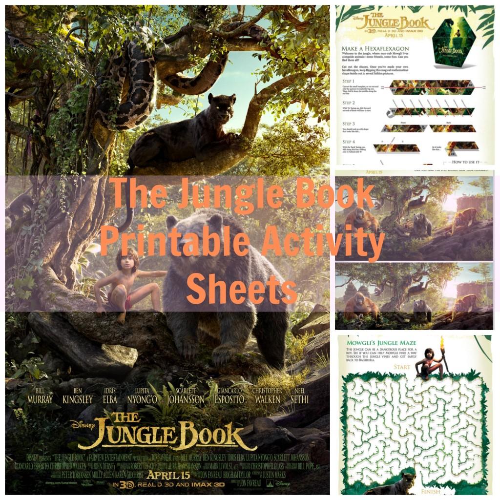 Disney S The Jungle Book Printable Activity Sheets Printables Thejunglebook