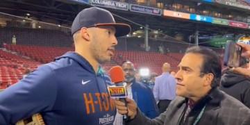 Neftalí Medina habló con Alex Correa en en Fenway Park.