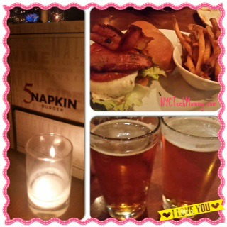 Simple date night - burger and beers at 5Napkin Burger