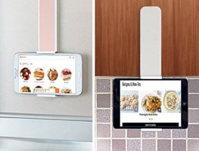 iPad Wall Mount by UHGOODS can make mom's life a bit simpler. Adjustable and easy to use mom can use it in the kitchen, bathroom or anywhere else around the house.
