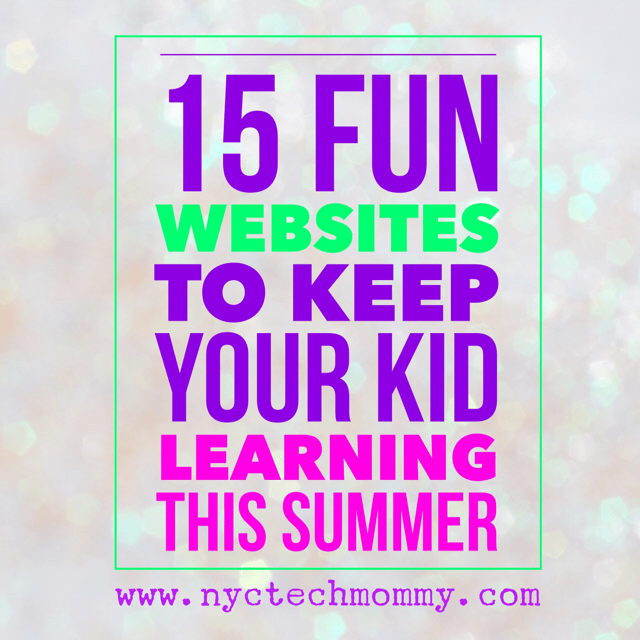 """Avoid the """"summer slide"""" with these 15 FUN WEBSiITES to Keep Your Kid Learning This Summer - click to see our great list"""