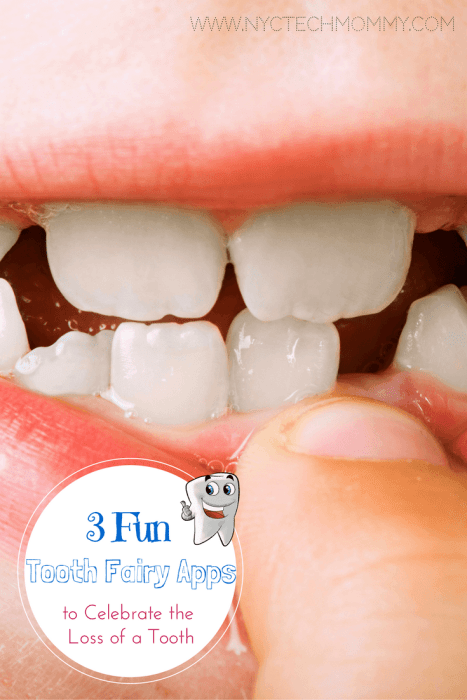 How do you get your kids excited about the loss of a tooth? 3 Fun Tooth Fairy Apps to celebrate the loss of a tooth - #kids #toothfairy