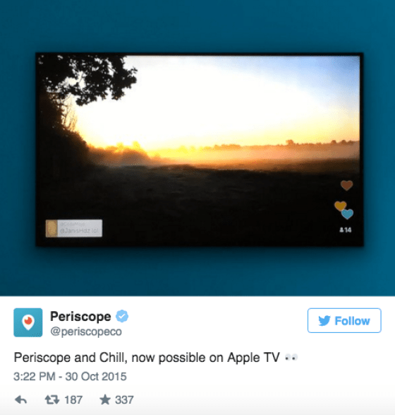 Periscope is now an app for Apple TV http://wp.me/p5Jjr7-qZ