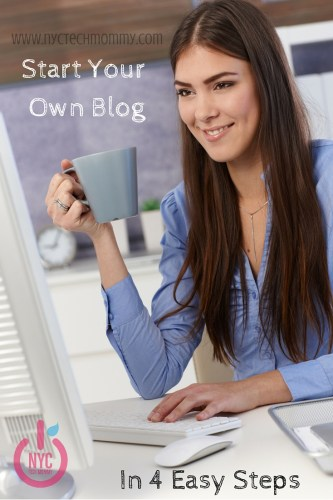 Start Your Own Blog in 4 Easy Steps - Not technical knowledge needed! It's easy to get started in under 15 minutes