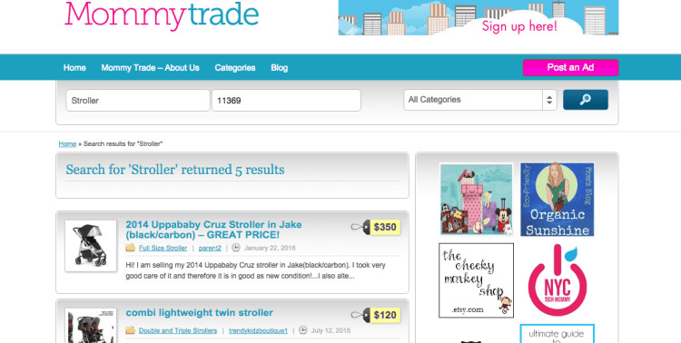 Sell your gently used baby items and find great deals on everything you need for baby with MommyTrade.com