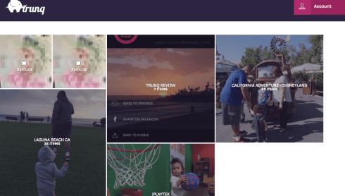 Trunq app organizes your photos into bundles