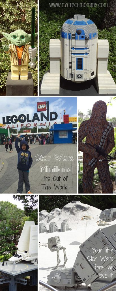 Don't miss an out of this world experience at Star Wars Miniland at Legoland California - Iconic Star Wars movie scenes and favorite characters made out of 1.5 million LEGO bricks built in 1:20 scale - Check out pics and details from our recent trip!