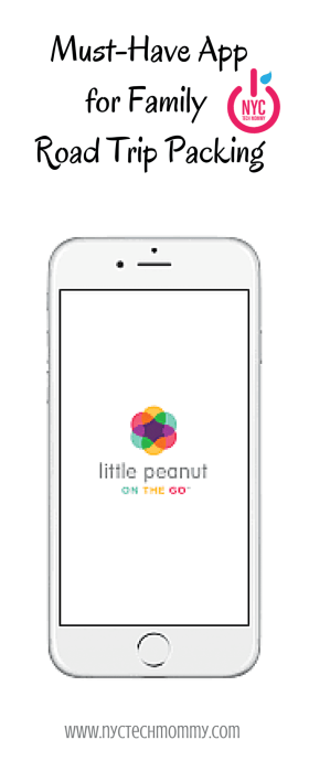 Must-Have App for Family Road Trip Packing - Little Peanut on the Go is a mobile assistant app for parents that helps keep everything organized and everyone connected while parents, children or the entire family is away from home. Lets you create packing and to-do lists, build care schedules to share with caregivers, and much more.