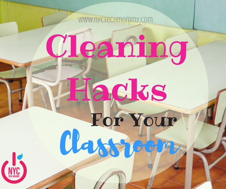 Struggling to keep your classroom clean and tidy? These cleaning hacks for the classroom (free infographic included) can help!