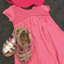 Step & Stride and Pink Dress