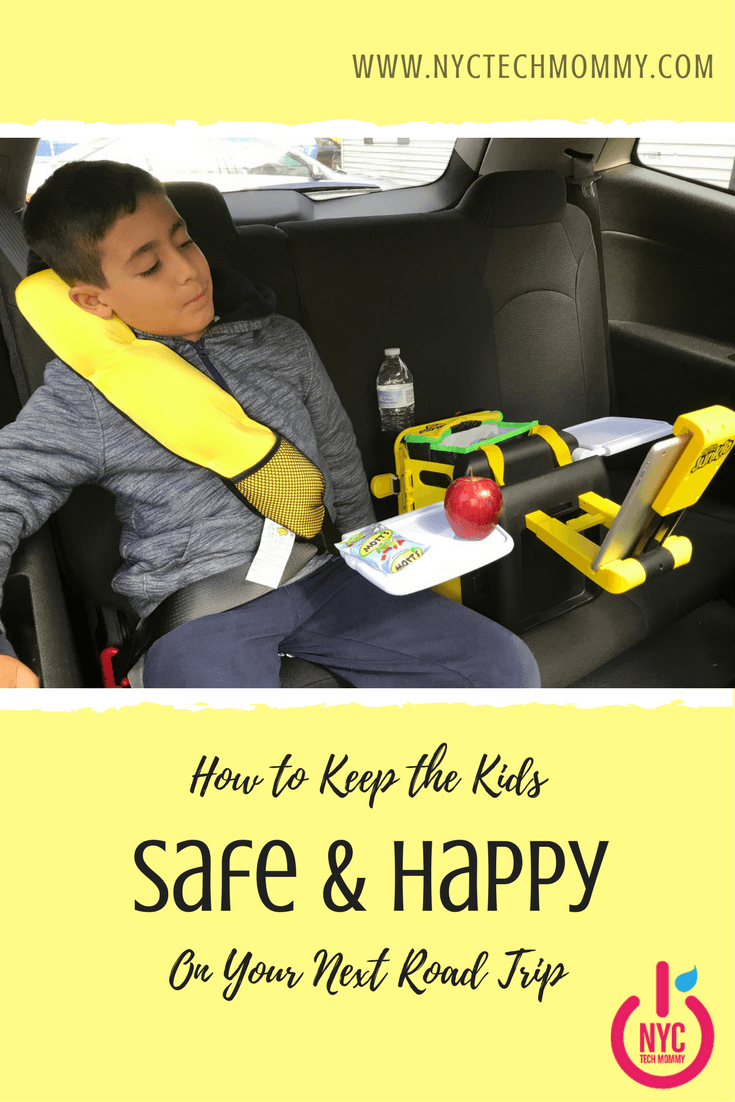 Learn how to keep the kids safe and happy on your next road trip with BubbleBum - inflatable booster seat, backseat organizer, and comfy travel pillow