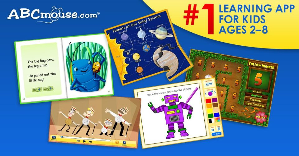 Kids Love Learning with ABCmouse PLUS 4 FUN NEW APPs - NYC