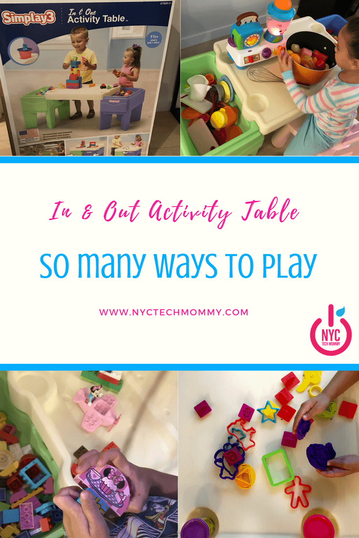 Here's a kids activity table that offers so many ways to play. Plus it keeps everything neat and tidy in one place. Check out how we're using the Simplay3 In & Out Activity table in our small NYC apartment!