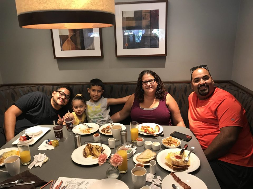 Family Breakfast at Hershey Grill