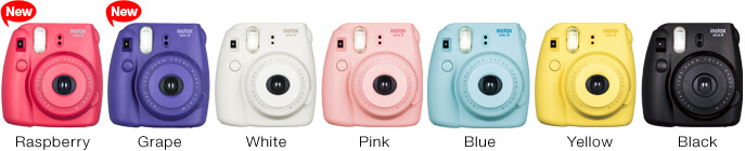 Fujifilm's Instax Mini 8 Instant Camera colors