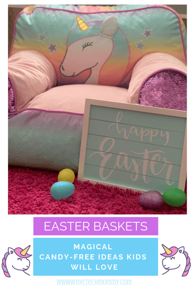 Unicorn Easter Basket Candy-Free Ideas Your Kids Will Love  #Unicorn #EasterBaskets