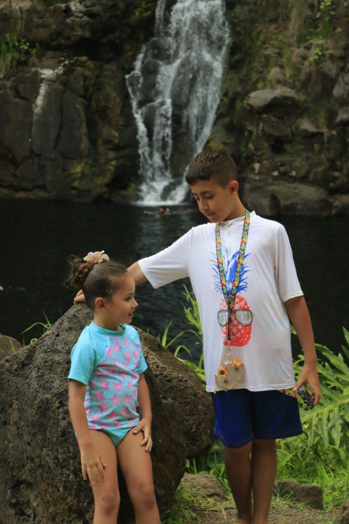 Waimea Valley and waterfalls on Oahu