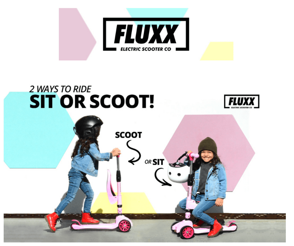 Scoot or Sit with the FLUXX DuoMini 2-in-1 Scooter for Kids, easy to learn to balance and tons of fun for little kids...