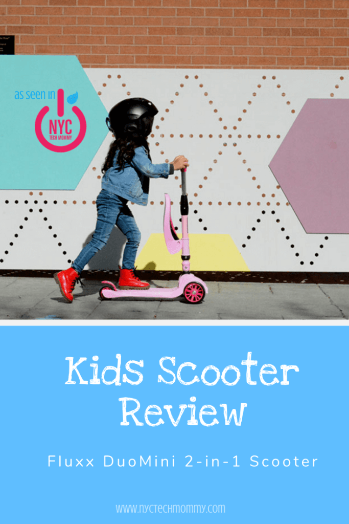 Scoot or Sit with the FLUXX DuoMini 2-in-1 Scooter for Kids, easy to learn to balance and tons of fun for little kids... We love all the cool features of this neat little kids scooter!