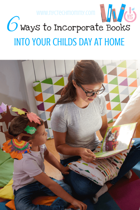 Here are six fun ways to incorporate books into your child's day at home  #readingforkid #activitiesathome #activitiesforkids #homelearning