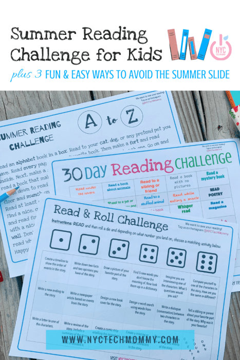 Summer Reading Challenge for Kids - FREE PRINTABLE DOWNLOAD
