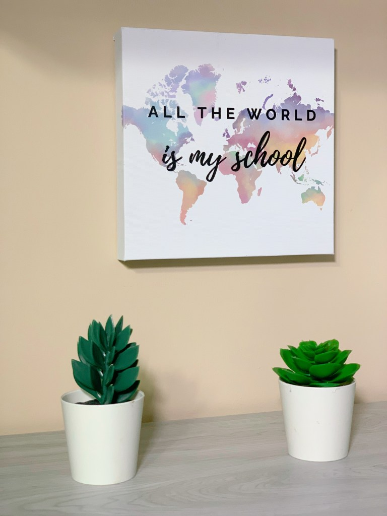 How to set up a learning space at home - FREE WALL ART printables