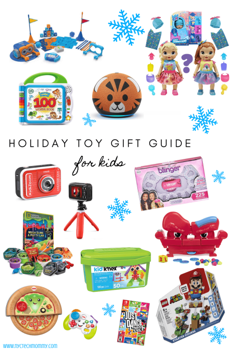 Holiday Toy Gift Guide for Kids -- Check out these STEM toys, tech toys, fun toys for language development, toys for creativity, and more!